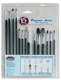 15 piece budget brush set